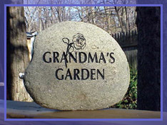garden marker rock